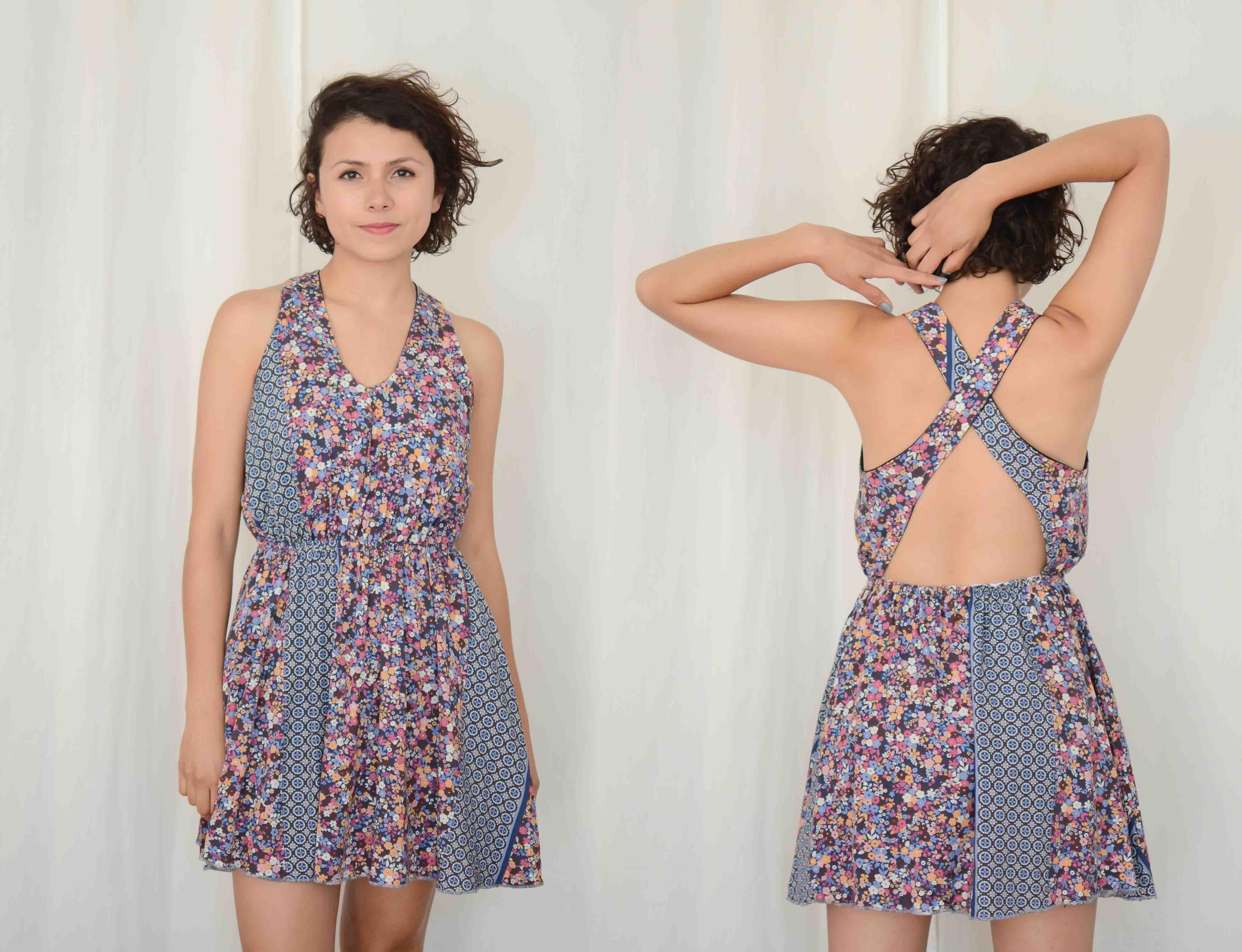 DARLILA DRESS sewing pattern - sewing - upcycling - pattern making