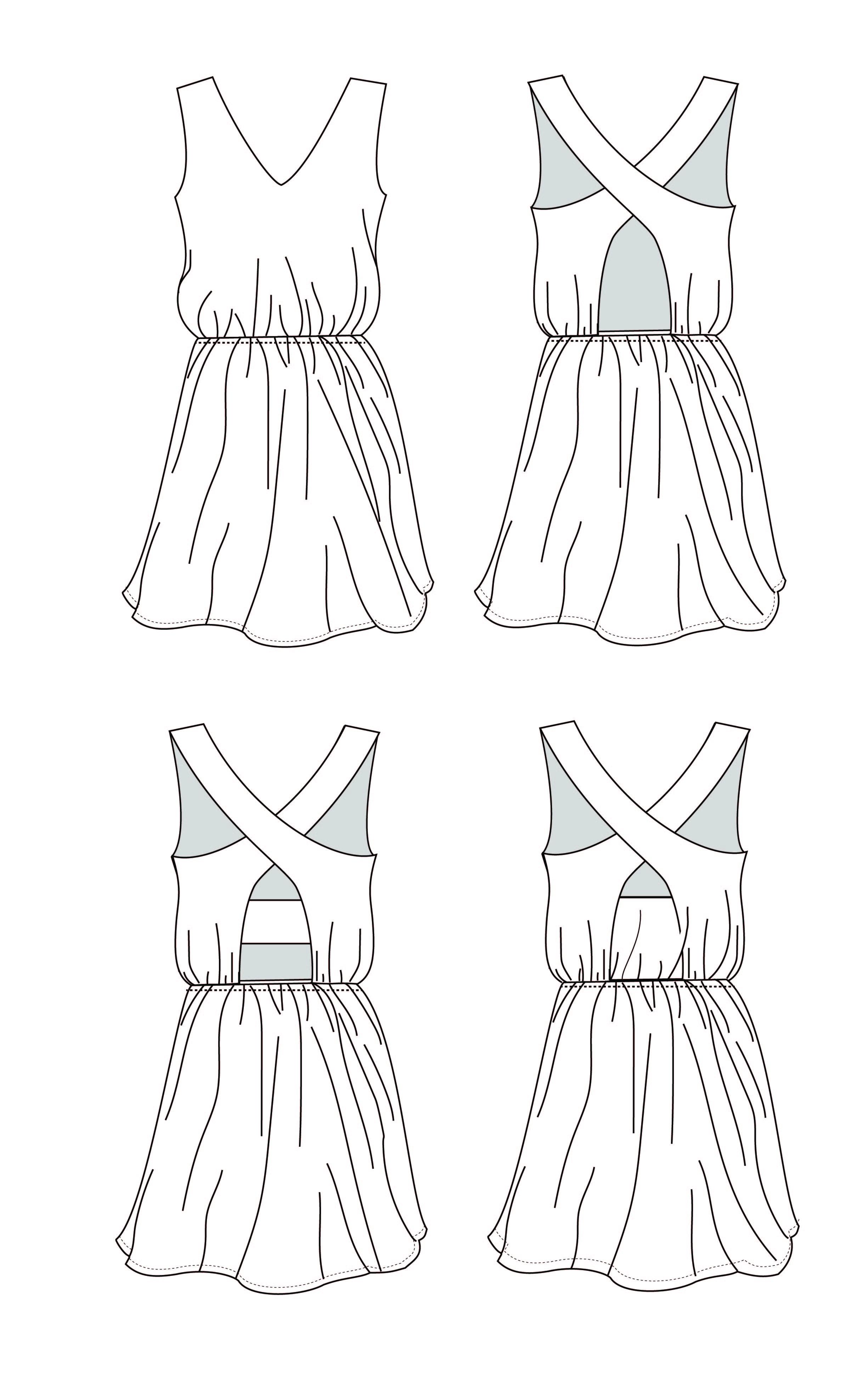 VESTIDO DARLILA patron de costura - sewing - upcycling - pattern making